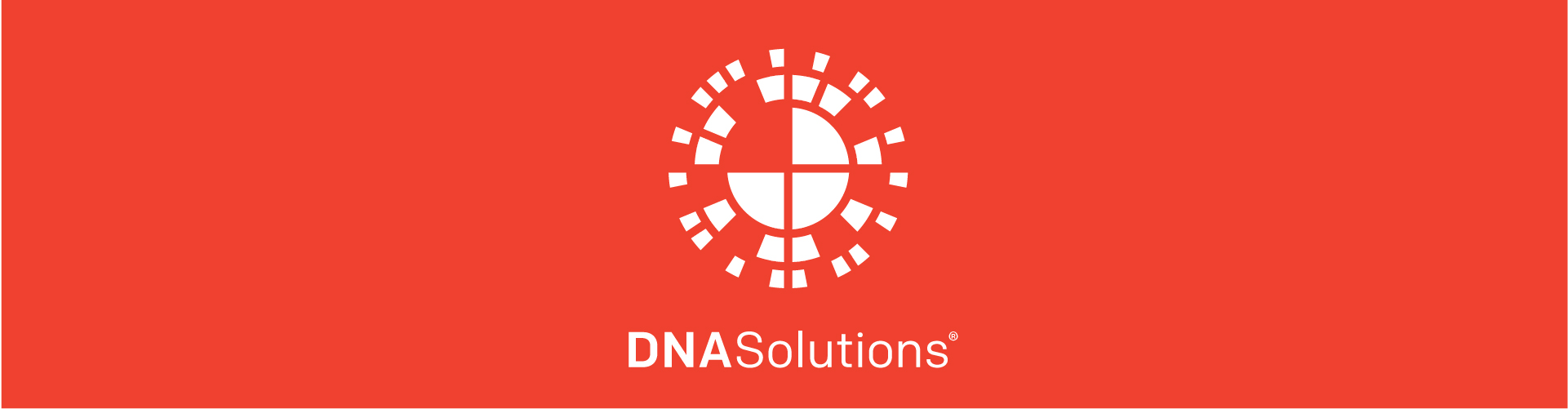 Homepage Slider DNA Solutions Logo Red Background
